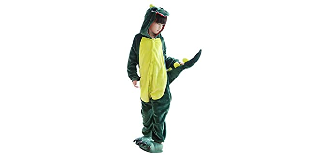 Fanhong Boy's Dinosuar - Onesie Pyjamas