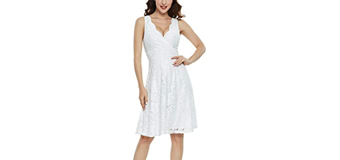 Miss Moly Women's Lace - Dress for a Large Bust