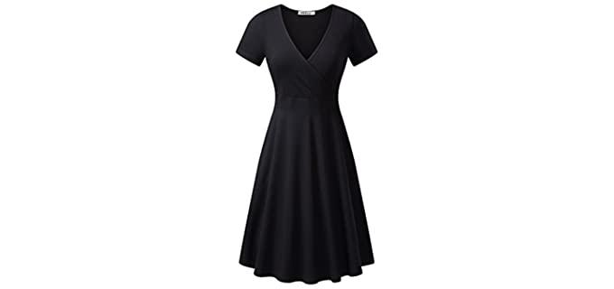 MSbasic Women's Unique - Dress for Broad Shoulders