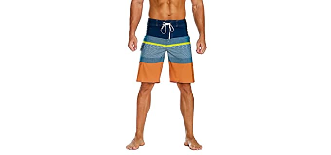 Nonwe Men's Sportswear - Bathing Suit for an Athletic Build