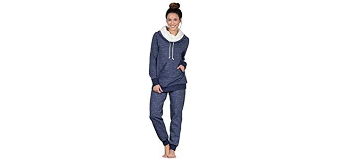 PajamaGram Girl's Soft - Fleece Winter Pyjamas