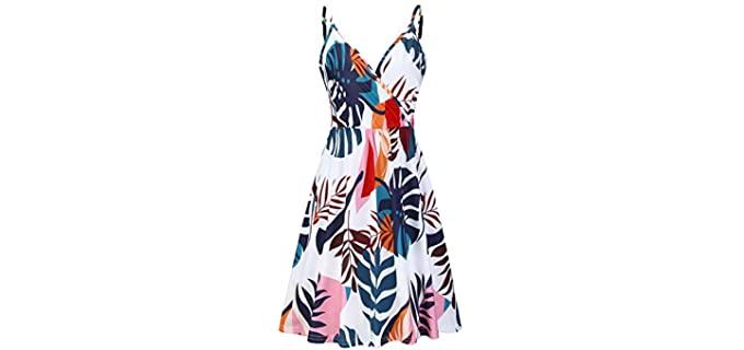 Styleworld Women's V-Neck - Beach Dress for a Honeymoon