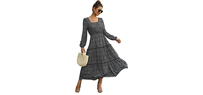 SweatyRocks Women's Maxi - Honeymoon Cold Weather Dress