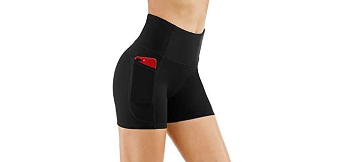 The Gym People Women's High Waist - Hot Yoga Shorts