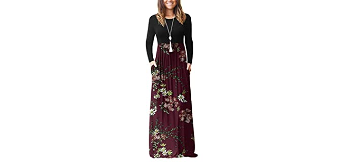 Viishow Women's Long Sleeve - Dress for Engagement Pictures