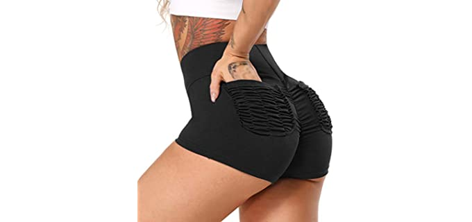 Starbild Women's High Waist - Shorts for a Flat Bum