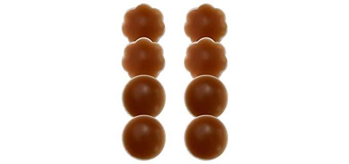 MuQu Women's Silicone Pasties - Nipple Covers