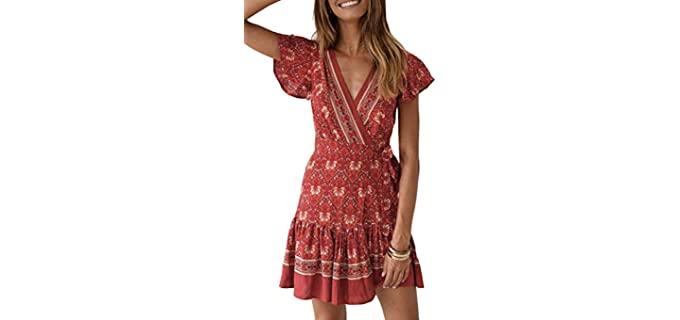 Zesica Women's Bohemian - Casual Honeymoon Dress