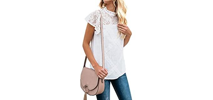 ZXZY Women's Blouse - Apple Shape Shirt