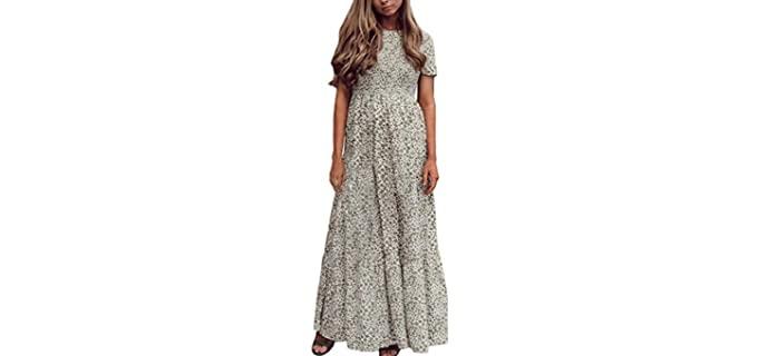 Zattcas Women's Floral - Floral Maxi Dress for Dinner Dates