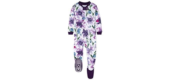 Burt's Bees Girl's Footed - Pyjamas for Baby