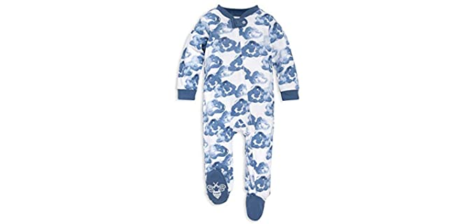 Burt's Bees Boy's Footed - Organic Pyjamas for Baby