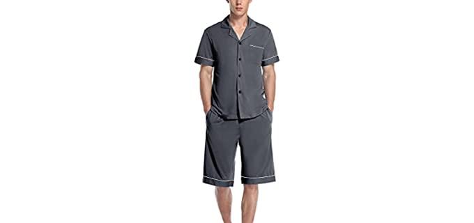 Colorfulleaf Men's ButtonDown - Night Sweats Pajamas