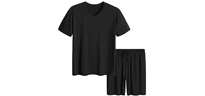 Latuza Men's Short Sleeve - Bamboo Pyjamas for Itchy Skin
