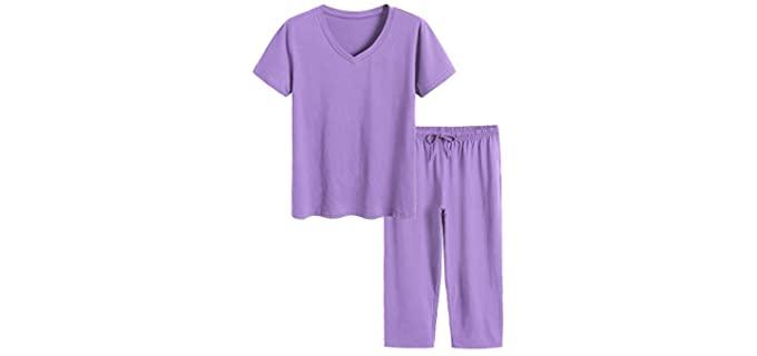 Latuza Women's Capri Set - Pyjamas for Itchy Skin
