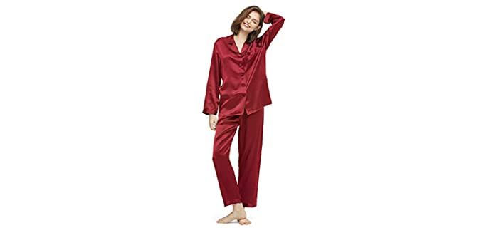 LilySilk Women's Comfy - Silk Pyjamas for Itchy Skin