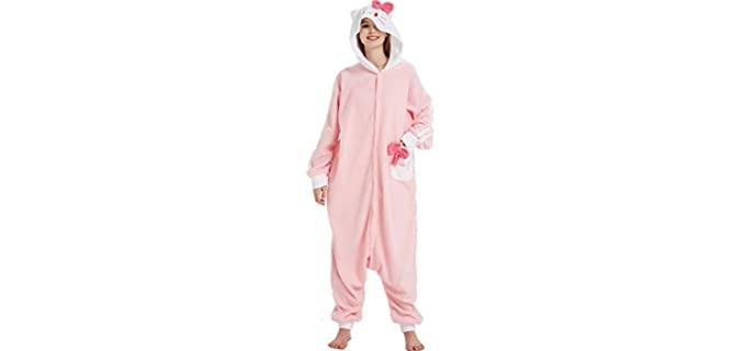 Novelty Women's Hooded - Onesie Gift Pyjamas