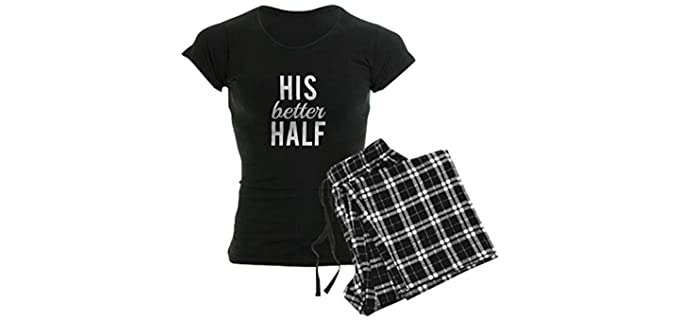 CafePress Women's His Better Half - Pajamas for Couples