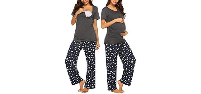 Ekouaer Women's Maternity - Post Partum Pajamas