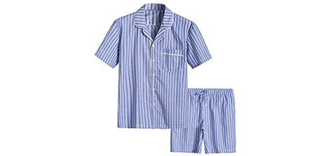 Latuza Men's Woven - Pajamas for Summer