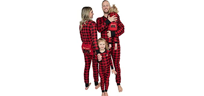 Lazy One Unisex Flapjacks - Pajamas for Couples with Children