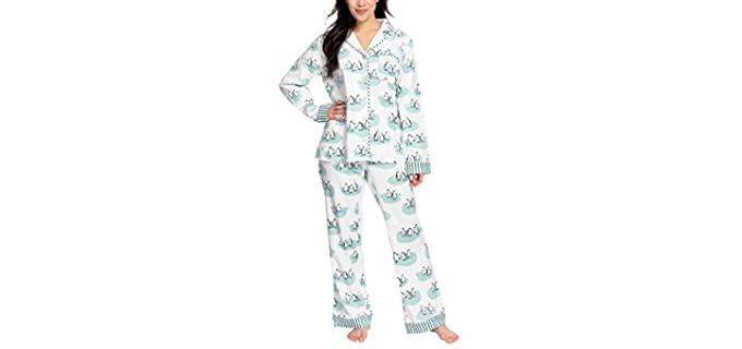 Munki Munki Women's PJ Set - Flannel Pajamas Set