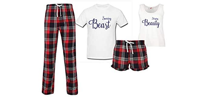 Sleeping Beauty Unisex Snoring Beast - Couple Pajamas
